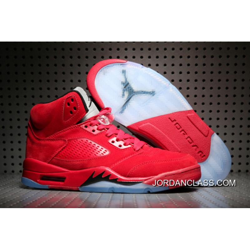 quality design 89b6a 0a2a6 'Red Suede' Air Jordan 5 University Red/Black-University Red Discount