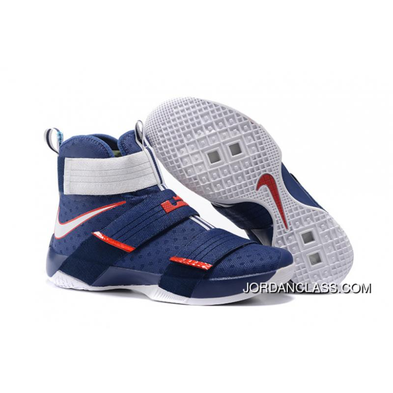 wholesale dealer be01e 80f51  USA  Nike LeBron Soldier 10 Obsidian White-University Red Top Deals ·   ...