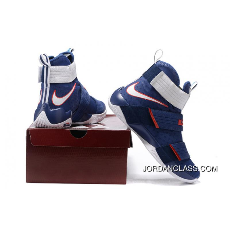 the latest 5a7be 2632f ...  USA  Nike LeBron Soldier 10 Obsidian White-University Red Top Deals