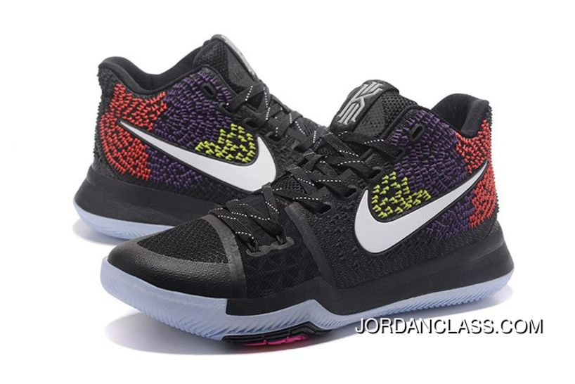 sports shoes 5860d 3b71c Nike Kyrie 3 PE Black Yellow Purple Red Super Deals, Price: $88.35 ...