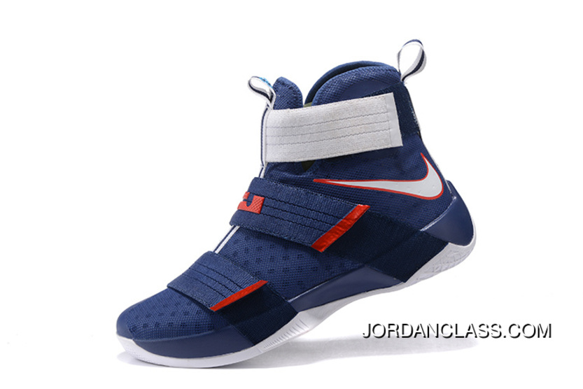 timeless design b3d39 3dc67  USA  Nike LeBron Soldier 10 Obsidian White-University Red Top Deals