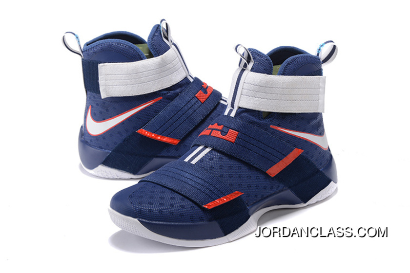 9fb48c0493c USA  Nike LeBron Soldier 10 Obsidian White-University Red Top Deals ...