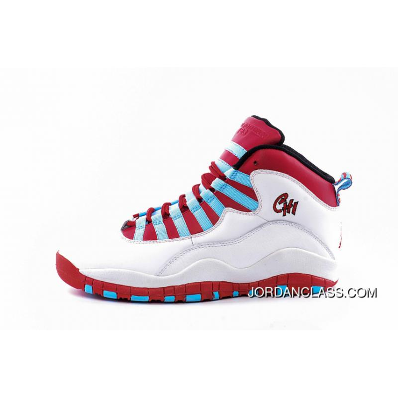 27da1b8391ad Air Jordan 10  Chicago Flag  White Light Crimson-University Blue-Black ...
