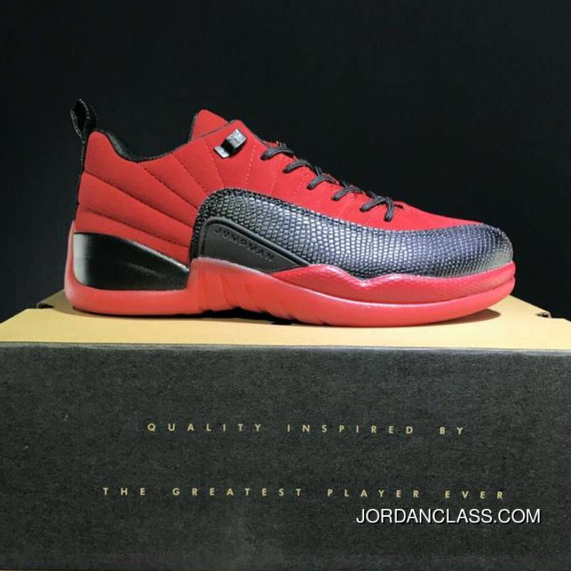 b06bb5396a4510 Cheap Air Jordan 12 Low Red Suede Release Top Deals ...