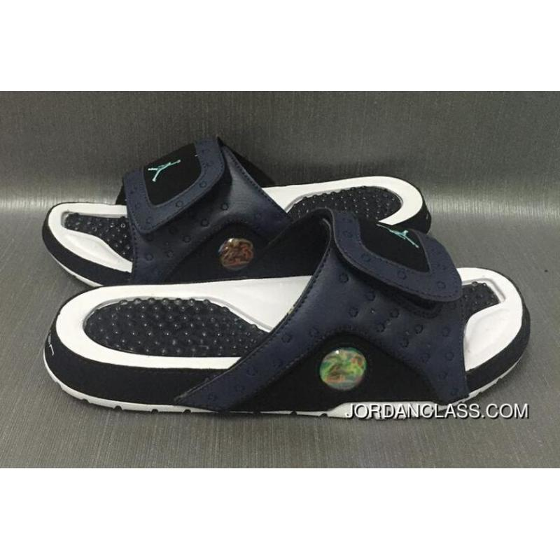 4371fb3592a6 Jordan Hydro 13 Retro Black White Green Slide Slippers Releasing New Style  ...