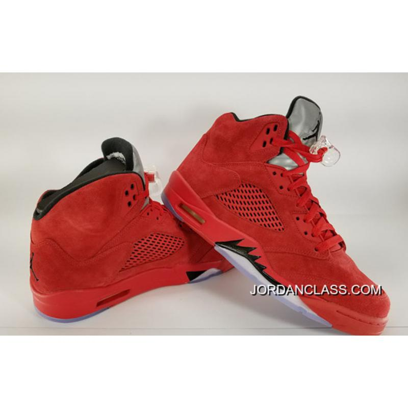 best loved e87f9 d5b0a New Air Jordan 5 'Red Suede' For Sale
