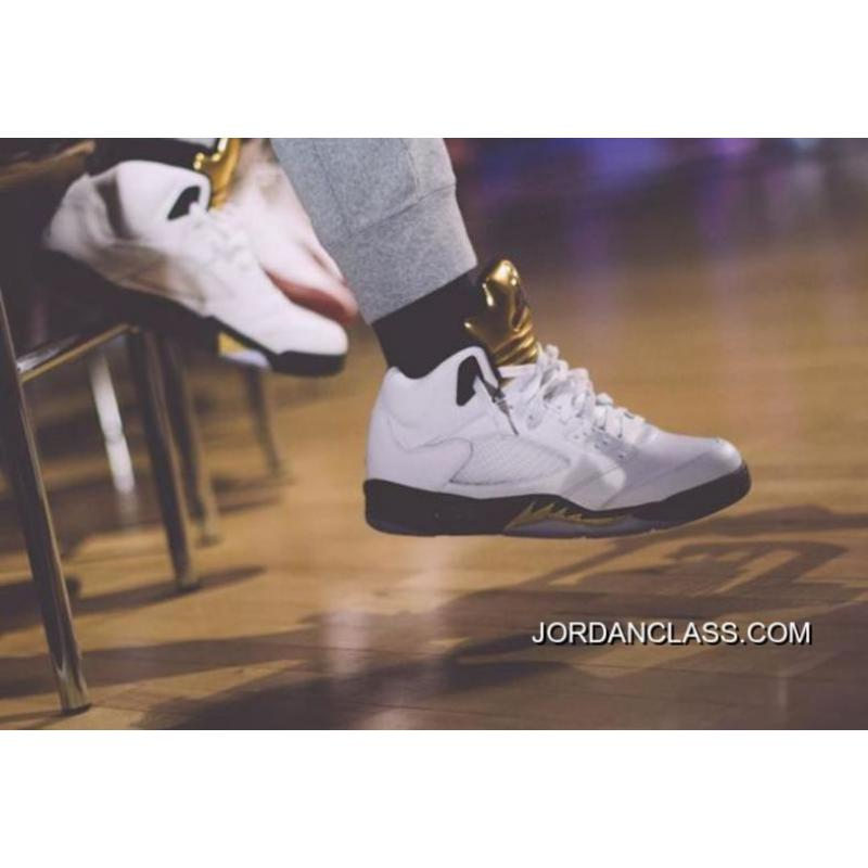 low priced bbe93 8f90b ... Air Jordan 5 Olympic White Black-Metallic Gold Coin Top Deals ...