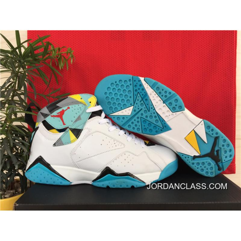 ba919aa0ade0c3 N7  Air Jordan 7 Retro White Dark Turquoise-Black-Ice Cube Blue New ...