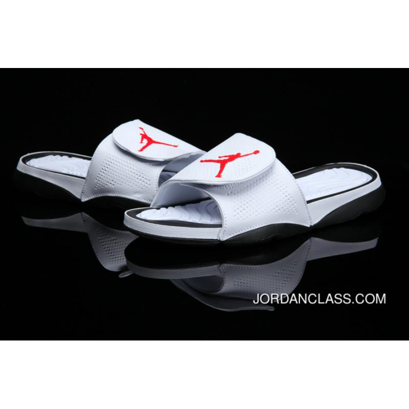 0f1acfdae Air Jordan Hydro 6 Sandals White Black Red Cheap To Buy ...