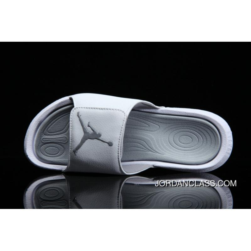 732d38f3f3522a Air Jordan Hydro 6 Sandals Grep White Lastest ...