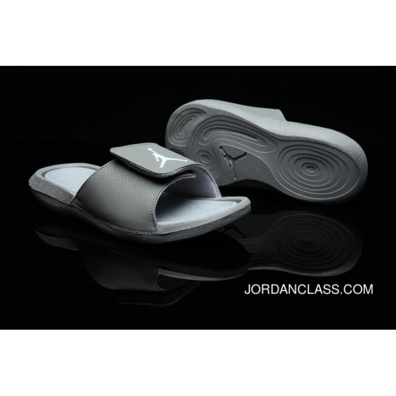 official photos c0b21 42f68 Air Jordan Hydro 6 Sandals Cool Grey/White/Wolf Grey Authentic