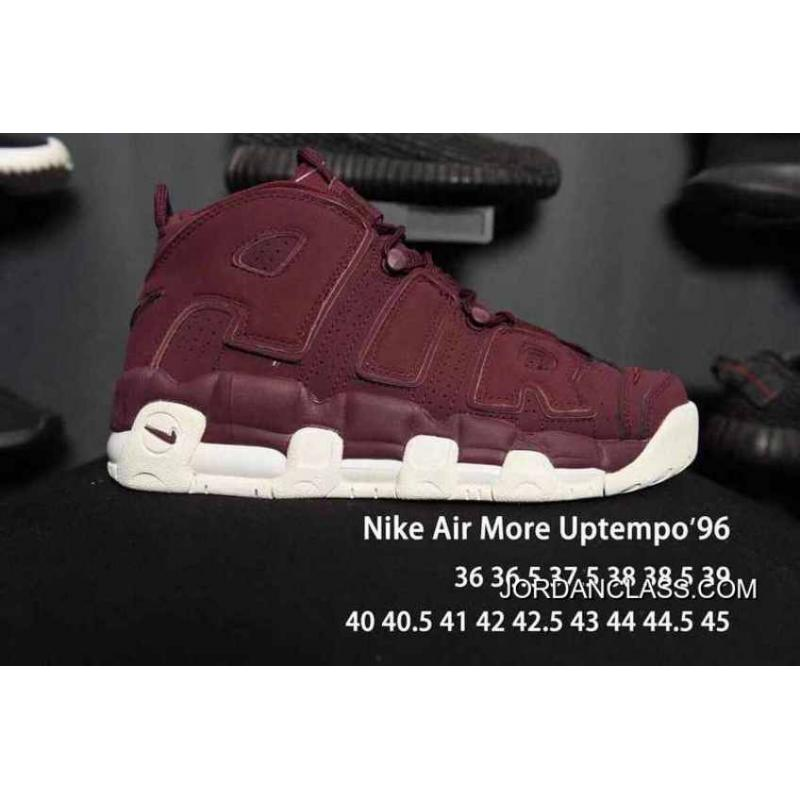 huge discount 38c89 f7d53 Nike Air More Uptempo Burgundy Men Women Free Shipping ...