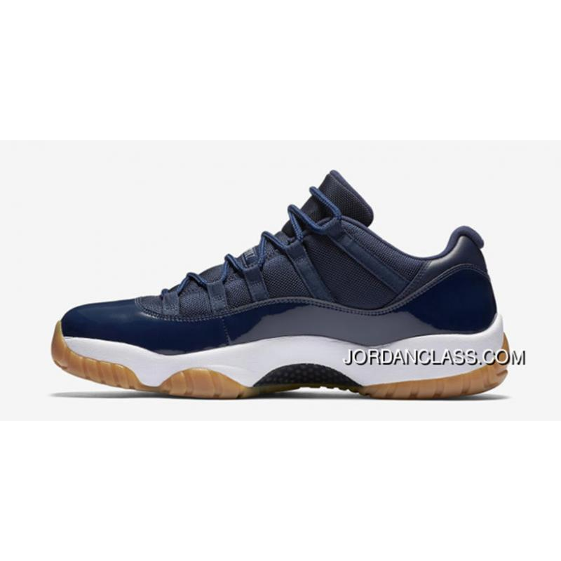 New Air Jordan 11 Low Midnight Navy White-Light Gum Brown Coin-Black ... 31d7c34f0