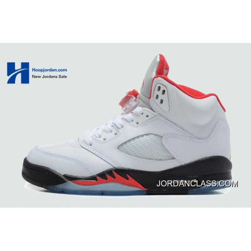 competitive price 8659c ccaed 2013 'Fire Red' Air Jordan V (5) White/Fire Red-Black Best