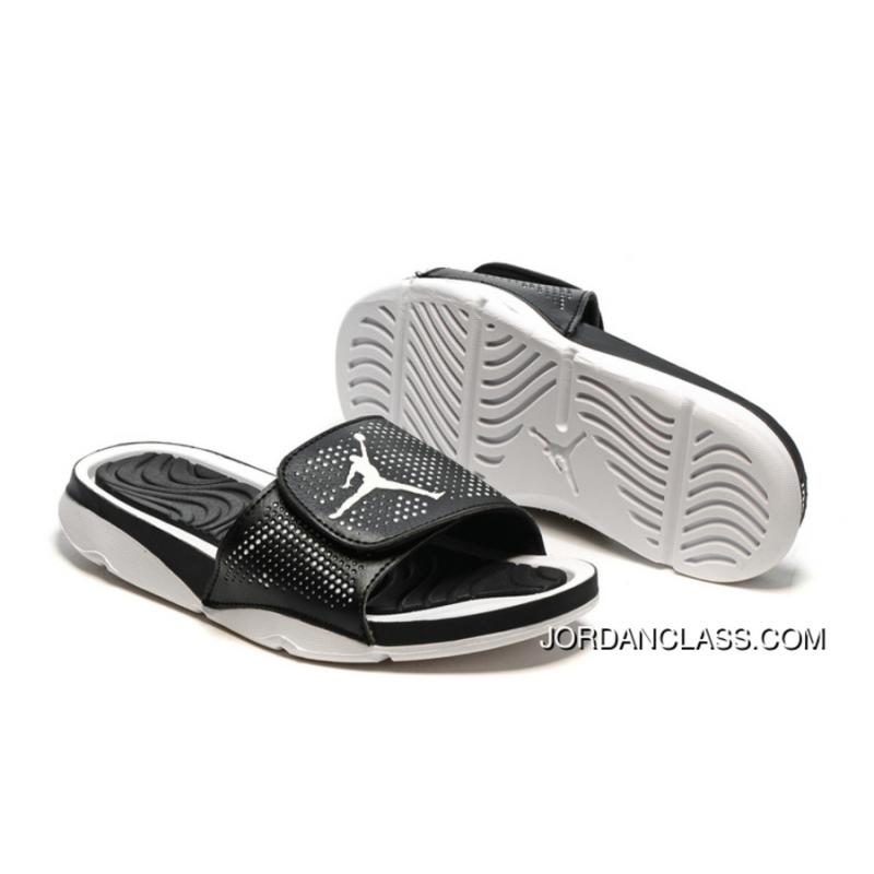 b8e61a69fb78 Air Jordan Hydro 5 Black White Slide Sandals Cheap To Buy ...