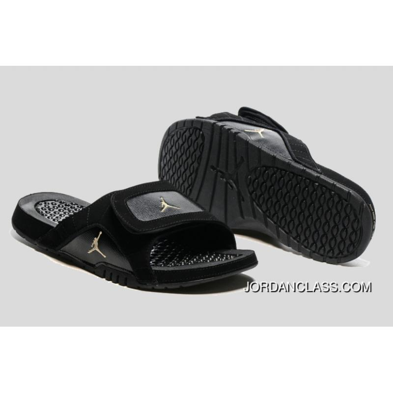 c25227147 Jordan Hydro 12 Slide Sandals Black Metallic Gold Cheap To Buy ...