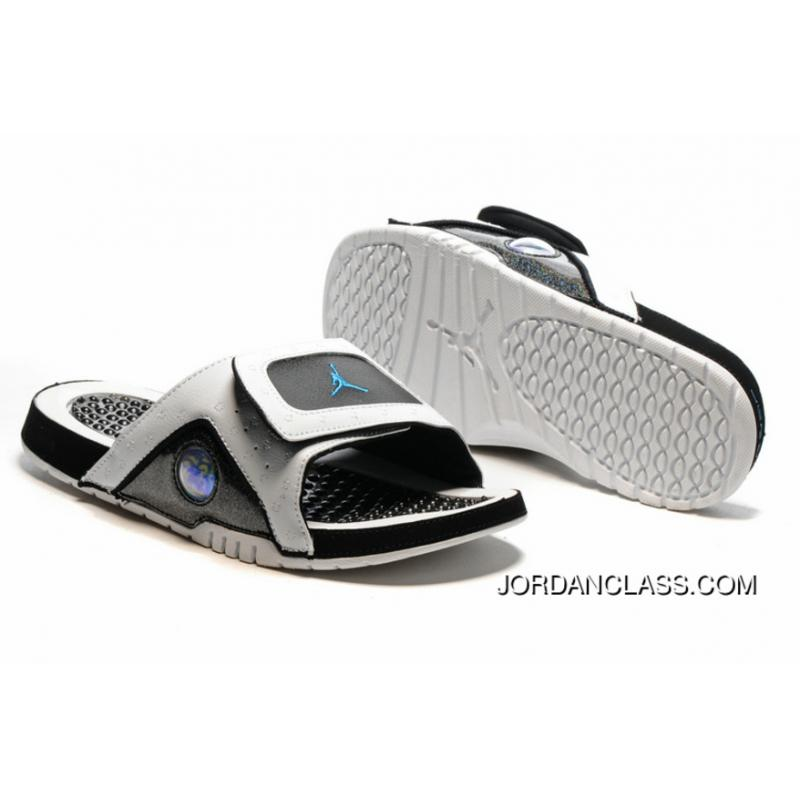 0e9ad93d8dbe9e Jordan Hydro 13 Slide Sandals White Black Blue Best ...