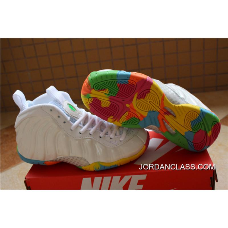 "5242b67bb5e Nike Air Foamposite One GS ""Fruity Pebbles"" White Pink Foil-Cascade Blue ..."