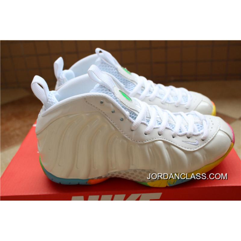 "... Nike Air Foamposite One GS ""Fruity Pebbles"" White Pink Foil-Cascade Blue 40635669fe62"