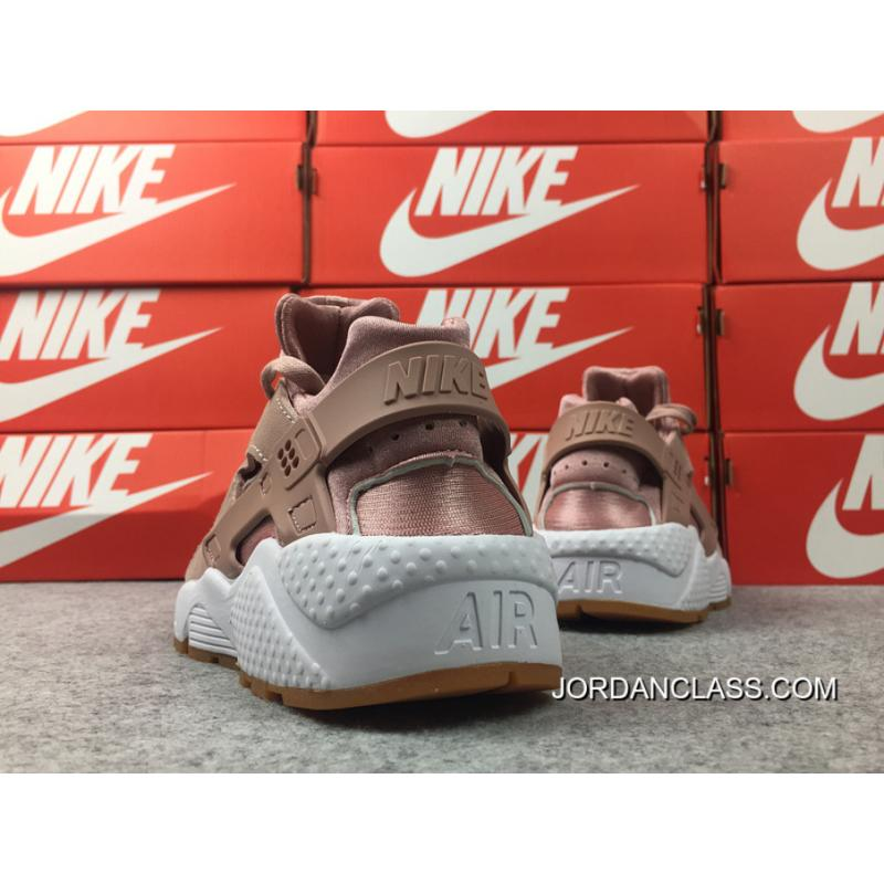 new styles 63566 fc154 ... Nike Air Huarache 1 Comfortable Feet Support WMNS Run SE Bean Paste  Pink AA0524-600