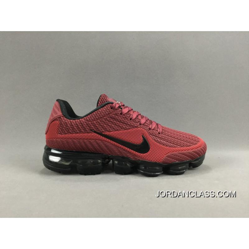 NIKE AIR VAPORMAX FLYKNIT 2018 Red Black Authentic ... 7148fb4ad