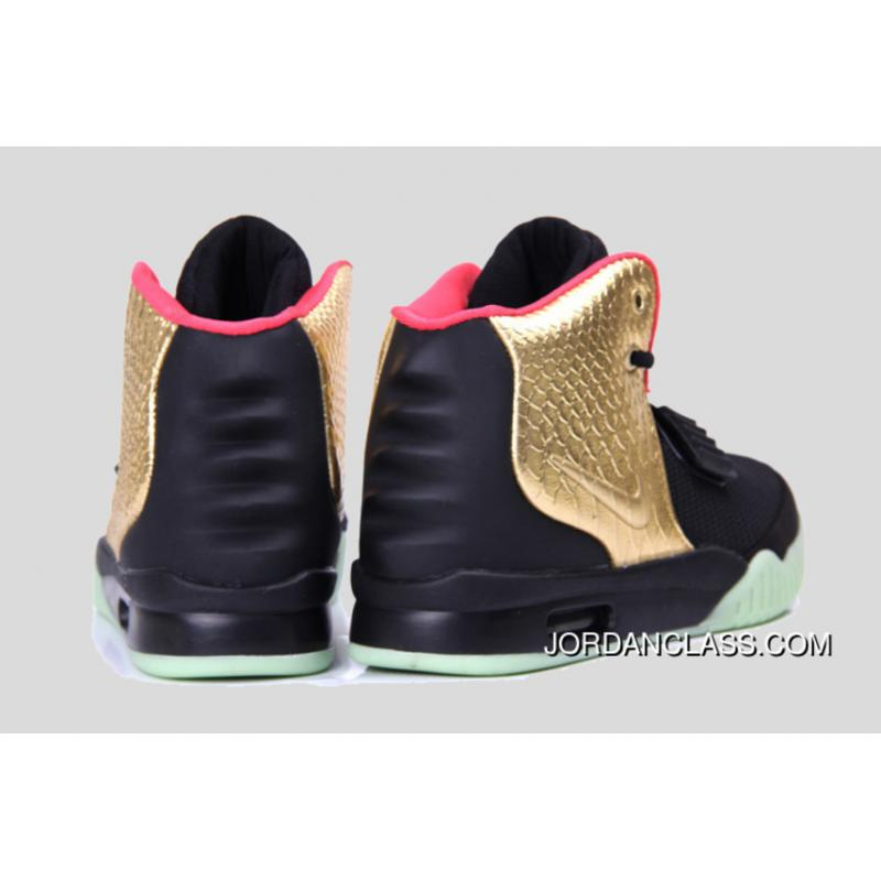 "... Glow In The Dark ""Imperial"" Nike Air Yeezy 2 Black Gold For Sale ..."