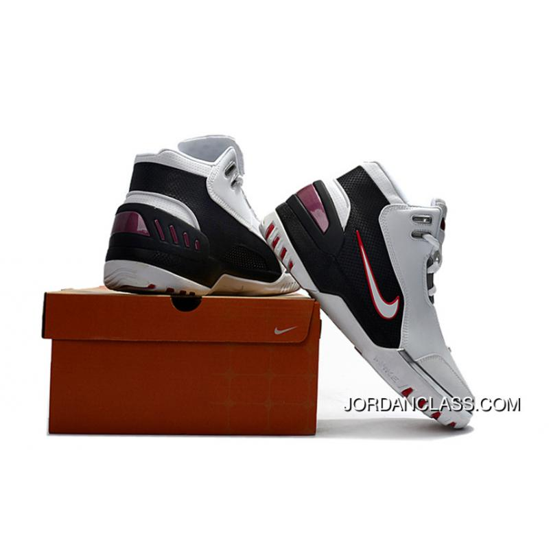 f6d95e5e57f26 Nike Air Zoom Generation Lebron 1 White Black And Red Authentic ...