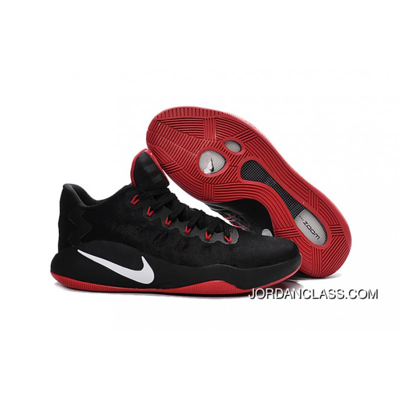 aa37e37a87a4 Nike Hyperdunk 2016 Low Black Red White Men s Basketball Shoes For Sale ...