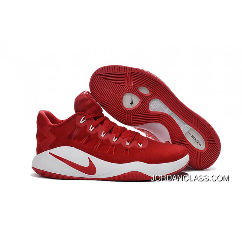 best sneakers 5941e 67890 ... where to buy nike hyperdunk 2016 low red white mens basketball shoes  authentic c5874 be1d0