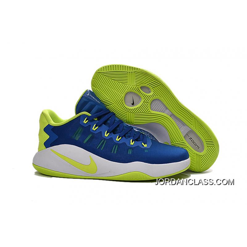 f5fbb39d229b Nike Hyperdunk 2016 Low Royal Blue Green White Men s Basketball Shoes Top  Deals ...