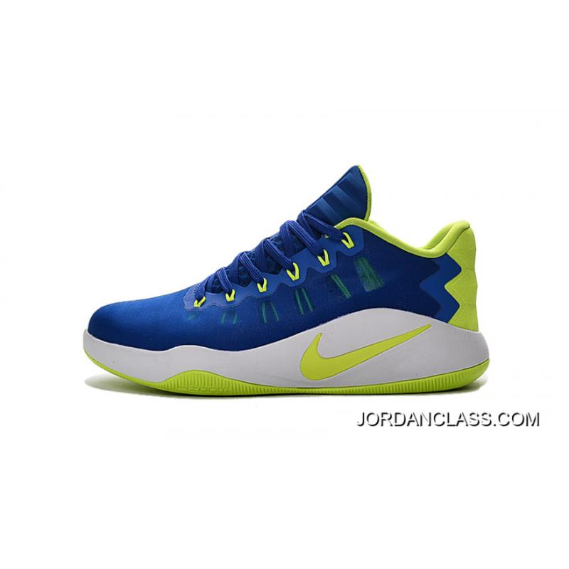 pretty nice 54bfb c4750 ... Nike Hyperdunk 2016 Low Royal Blue Green White Men s Basketball Shoes  Top Deals ...