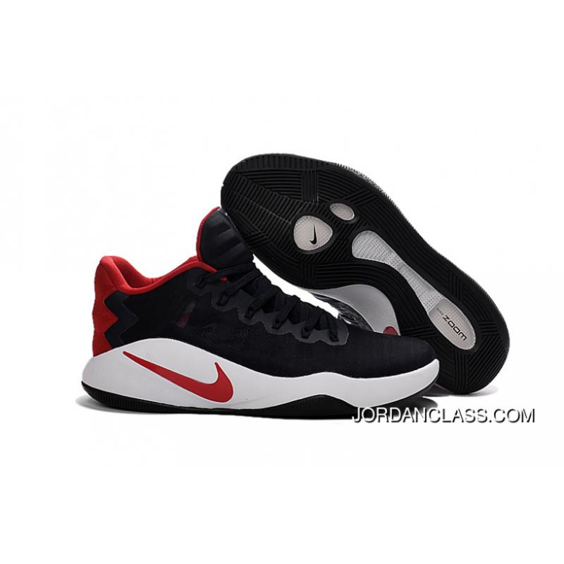 "690b61f81e99 Nike Hyperdunk 2016 Low ""USA"" Black Red White Men s Basketball Shoes Free  Shipping ..."