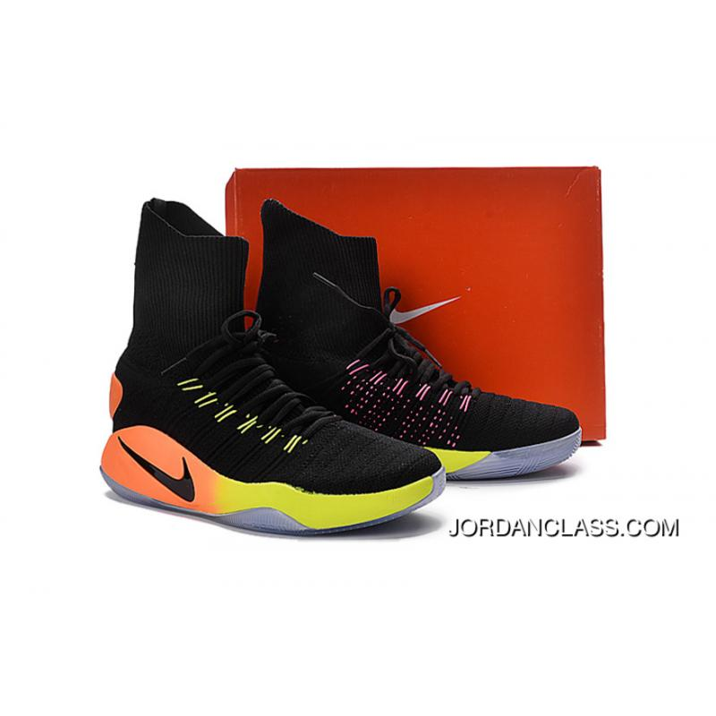 a834f40b8b23 ... Nike Hyperdunk 2016 Unlimited Black Black-Pink Blast-Volt-Total Orange  Best ...