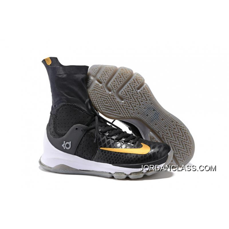 big sale 509f1 c1f17 2016  Away  Nike KD 8 Elite Black Metallic Gold-Sail Men s Basketball ...