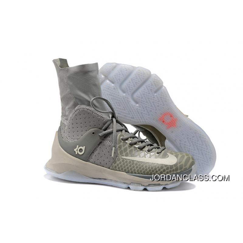new arrival 0595e 2ff18 2016 Nike KD 8 Elite Wolf Grey/Cool Grey-White Authentic, Price ...