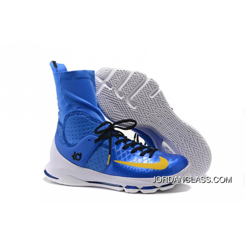 watch f0e02 4f8a6 2016 Nike KD 8 Elite Royal Blue Yellow-Black PE Free Shipping ...