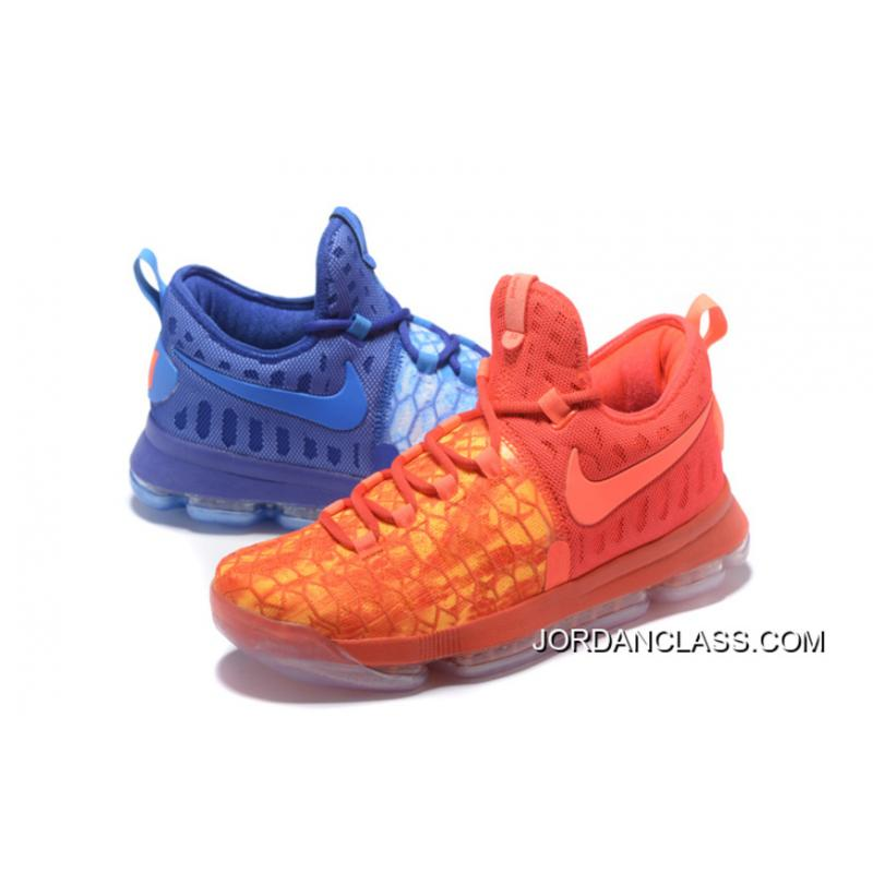 4317790ee453 2016 Fire Ice Nike KD 9 Deep Royal Blue Photo Blue- .