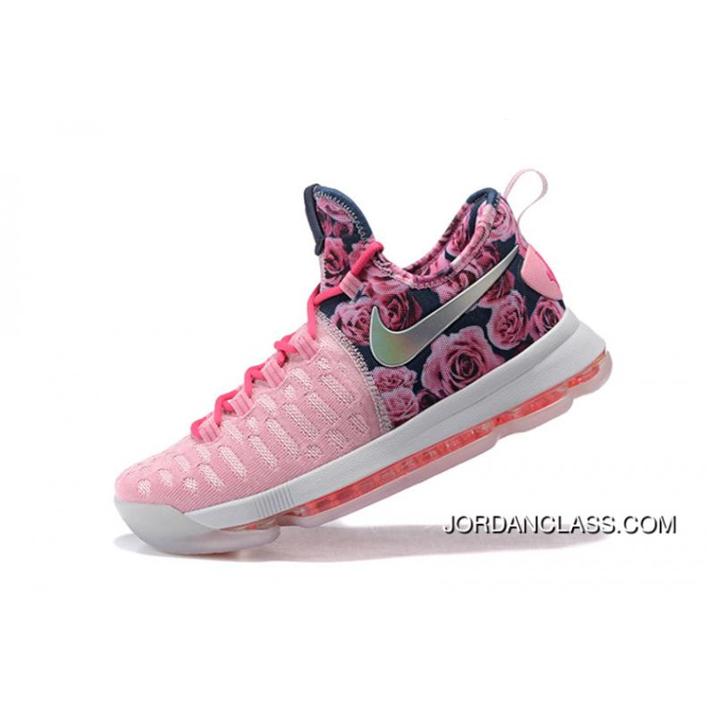 on sale 83be4 f5f10 2016 Nike KD 9 Flower Pink Men's Basketball Shoes Copuon Code