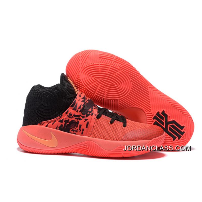 23ad2f559ef Nike Kyrie 2 Inferno Bright Crimson Atomic Orange-Black Top Deals ...