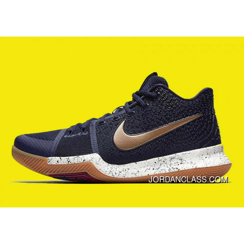 timeless design 551d5 8ed3f New Nike Kyrie 3 Obsidian/Metallic Gold-Summit White Free Shipping