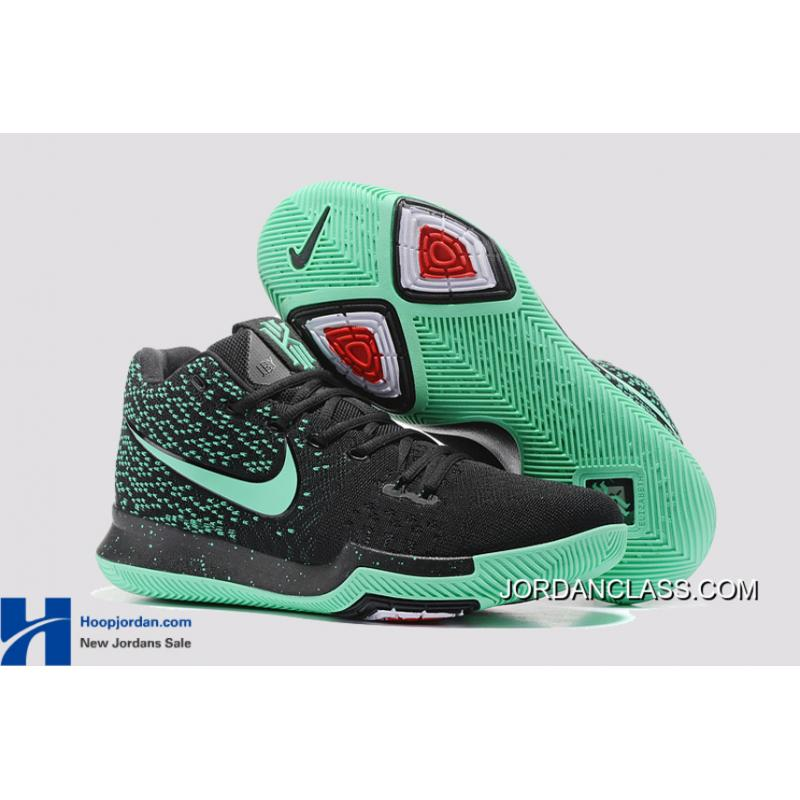 a5fe6d27102 ... real nike kyrie 3 green black pe mens basketball shoes for sale 4c57c  80839