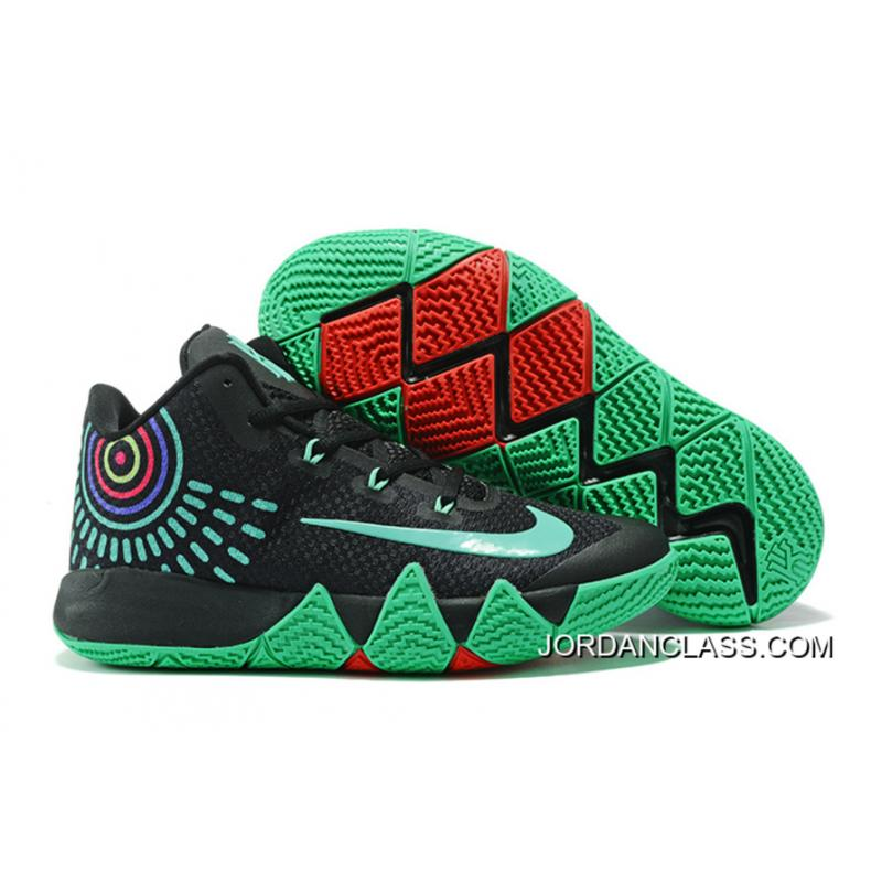 new products 3281b f8425 Nike Kyrie 4 Black Green Red Latest ...