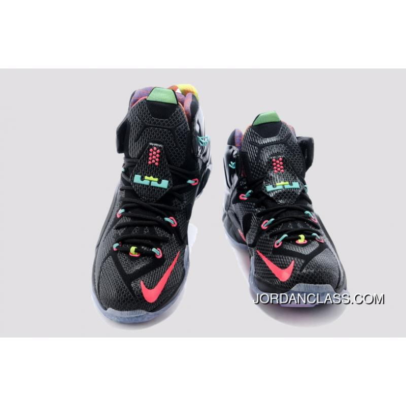 44a53885674 ... where to buy 2014 data nike lebron 12 black bright mango hyper punch  volt 7a8d8 7ce04