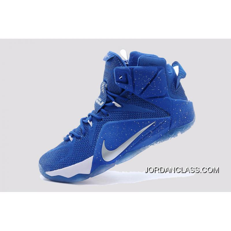 buy online b17d8 7ad5c ... coupon for 2014 nike lebron 12 royal blue white silver new style 55ae2  b8485 ...