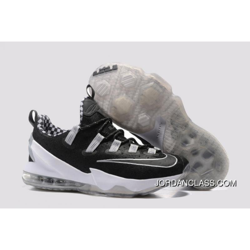 3f5b1b7d8fd 2016 Nike LeBron 13 Low Black White Silver Authentic ...