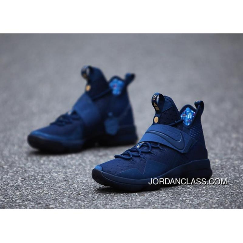 new style 4b255 b6649 inexpensive nike lebron 14 agimat coastal blue white star blue free  shipping 883a8 d9dba