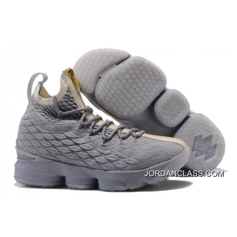 6b8a01fb44643 New Year Deals Nike LeBron 15 Zip Navy Blue White-Gold ...