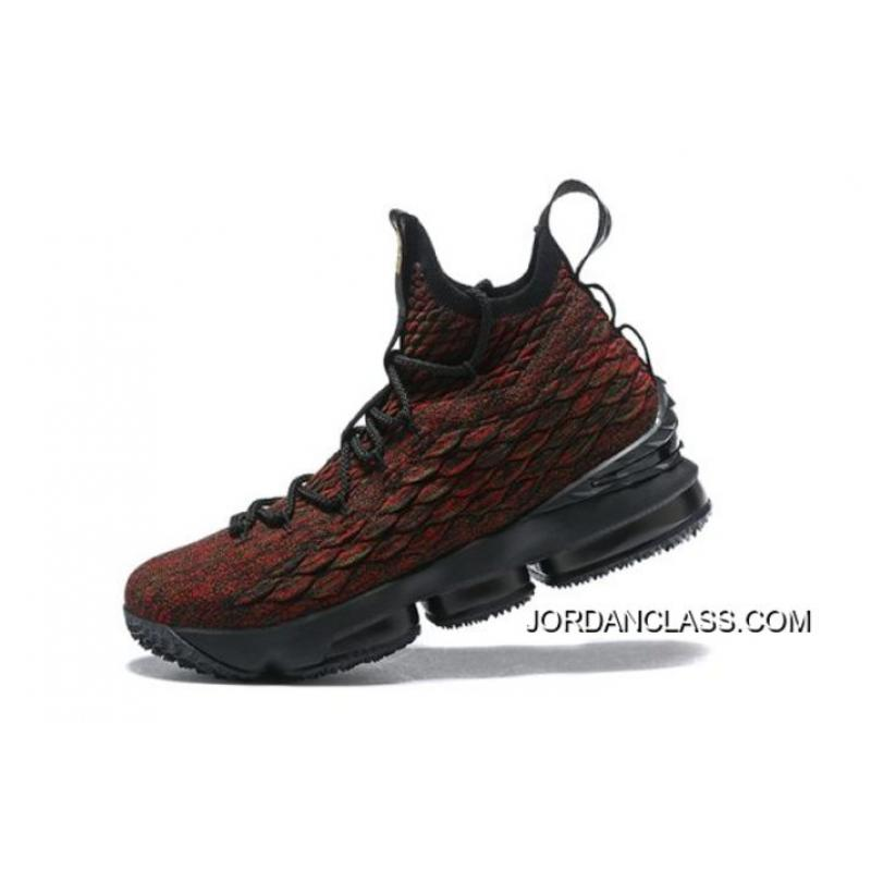 "outlet store 97dbf 45787 Best Men's Nike LeBron 15 ""BHM"" Black/Multi-Color Basketball Shoes AA3857  ..."