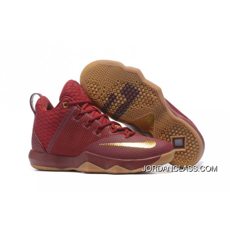 outlet store fe21f 0b2e4 New Nike LeBron Ambassador 9 Wine Red Gold Gum Best ...