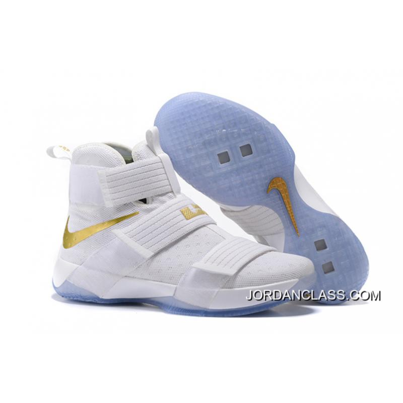 Nike LeBron Soldier 10 White And Gold